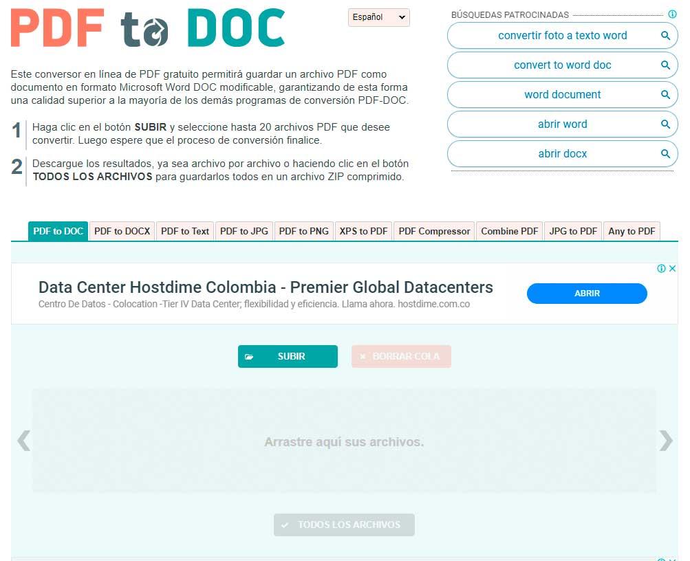 Convertir de PDF a WORD